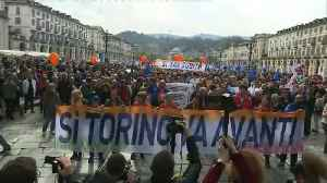 Italy: Hundreds march in favour of high-speed train between France and Italy [Video]
