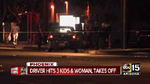 Three children, one woman hurt in hit-and-run crash near 71st Ave and Indian School [Video]