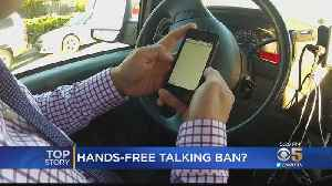 Feds Urge California To Ban Hands-Free Use Of Cellphones While Driving [Video]