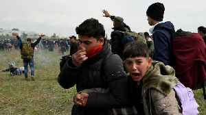 Greek police clash with refugees at the Macedonian border [Video]
