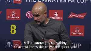 Winning quadruple is almost impossible says Pep Guardiola [Video]