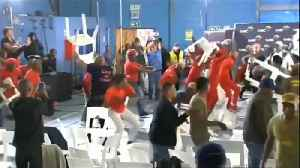 Chaos erupts between South Africa left-wing parties' supporters [Video]