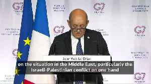 France's Le Drian says G7 ministers mostly agreed except on Iran, Israeli-Palestinian issue [Video]