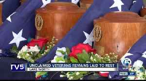 Unclaimed veterans remains laid to rest in Lake Worth [Video]