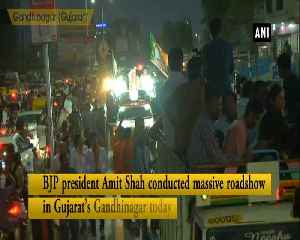 Amit Shah conducts massive roadshow in Gandhinagar [Video]