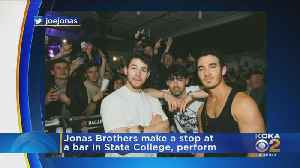 The Jonas Brothers Surprise Patrons At State College Bar [Video]