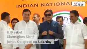 Saw democracy change into dictatorship Rebel BJP leader Shatrughan Sinha joins Congress [Video]