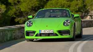 Porsche 911 Carrera 4S Cabriolet in Lizard Green Driving Video [Video]