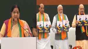 Sushma Swaraj speaks at the launch of BJP's manifesto in New Delhi | Oneindia News [Video]