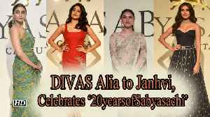 Alia to Janhvi, DIVAS celebrates '20yearsofSabyasachi' [Video]