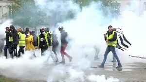 Protesters, police clash in Nantes on 21st round of 'yellow vest' demos [Video]