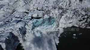 Drone camera captures extraordinary moment Iceland glacier collapses into lake [Video]