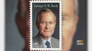 USPS Unveils Stamp Honoring Former President. George H.W. Bush [Video]
