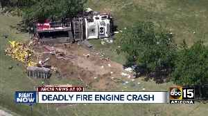 3 dead, 3 firefighters injured after truck, fire engine collide in west Phoenix [Video]