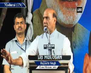 News video: Congress alliance with DMK is unholy preposterous alliance Rajnath Singh