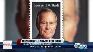 USPS unveils stamp honoring George H.W. Bush [Video]