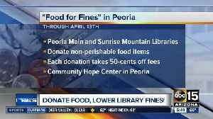 Donate food to pay down your library fines [Video]