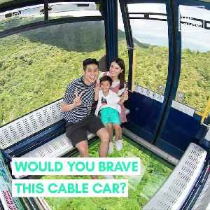 This Hong Kong cable car has a glass floor [Video]