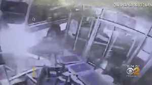 MTA Bus Crashes Into 2 Shops In Woodside, Queens [Video]