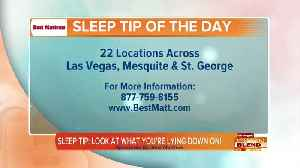 Sleep Tip: Know What You're Lying Down On! [Video]