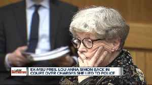 Ex-MSU president Lou Anna Simon back in court over charges she lied to police [Video]