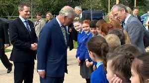 Prince Charles and Camilla visit Hillsborough Castle [Video]
