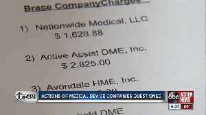Actions of medical device companies questioned [Video]