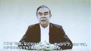 Ghosn Says He's A Victim Of Conspiracy By Nissan Execs [Video]