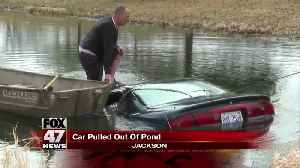 Car pulled from pond Monday morning [Video]