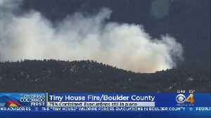 Tiny House Fire: 14 Acres Burned, 75 Percent Contained [Video]