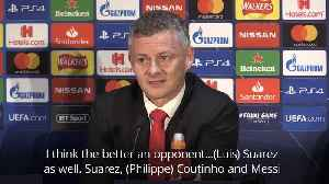 Solskjaer insists Barcelona are more than just Messi [Video]