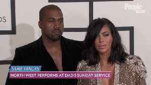 A Showstopper! North West Adorably Takes the Mic at Dad Kanye West's Sunday Service [Video]