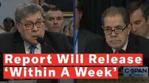 News video: Attorney General William Barr Says Mueller Report Should Be Released Within A Week