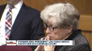 Former MSU President Lou Anna Simon faces her accusers in court [Video]