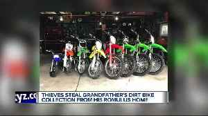 Thieves target disabled Romulus man, steal his collection of dirt bikes [Video]
