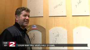 Edgar Martinez Baseball HOF visit [Video]