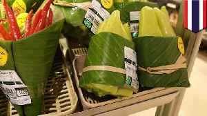 Asian supermarkets using banana leaves instead of plastic bags [Video]