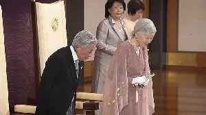 Japan's Emperor Akihito and Empress Michiko celebrate their 60th wedding anniversary [Video]