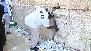 Clean out of written prayers from cracks of Jerusalem's Western Wall [Video]