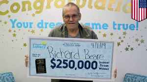 Man with stage 4 cancer wins $250,000 in North Carolina lottery [Video]
