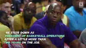 Lakers' Magic Johnson to Leave Role as Team President [Video]