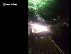 Ajax fans set off fireworks outside Juventus' hotel ahead of Champions League game [Video]