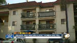 Water delivery man saves elderly Escondido woman after fall [Video]