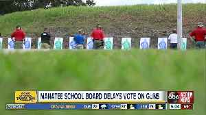 Manatee County delays vote on whether to arm teachers [Video]