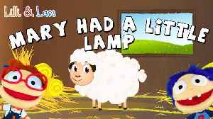 MARY HAD A LITTLE LAMB nursery rhyme with lyrics - Sing children songs with Lilli and Lars! [Video]