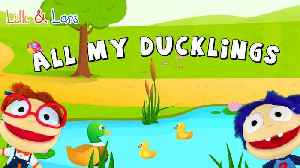 ALL MY LITTLE DUCKLINGS - popular NURSERY RHYMES songs with lyrics and action [Video]