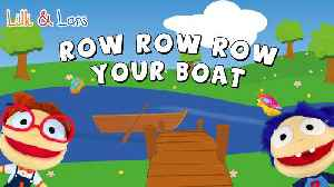 ROW ROW ROW your boat lyrics with song - nursery rhyme for children [Video]