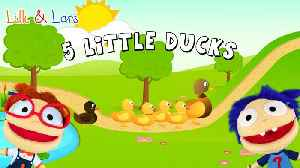 Five little ducks song with lyrics - nursery rhymes animal songs for children with lyrics [Video]