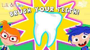 Tooth brushing Song - How to brush your teeth - 3 minute children song [Video]