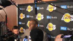 News video: Magic Johnson announces he's stepping down as Lakers president of basketball operations